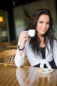 Coffee shop girl. — Stock Photo