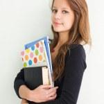 güzel teen öğrenci kız — Stok fotoğraf