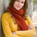 Colorful fall fashion woman. — Stock Photo #8328342