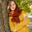Stock Photo: Gorgeous fall fashion girl.