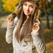 Fashionable young brunette. — Stock Photo #8329621