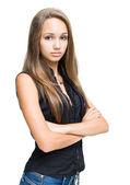 Beautiful young brunette model. — Stock Photo