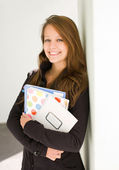 Cheerful young student girl. — Stock Photo