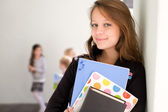 Beautiful smiling young student. — Stock Photo