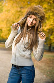 Fashionable young brunette. — Stock Photo