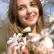 Стоковое фото: Spring beauty in nature with flowers.