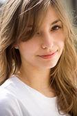 Beautiful young brunette girl. — Stock Photo