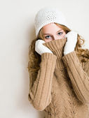 Turtleneck hide and seek. — Stock Photo