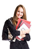 Happy student girl — Stockfoto