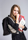 Beautiful friendly young student. — Stock Photo