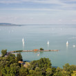Stock Photo: Tihany and lake Balaton.