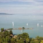 Tihany and lake Balaton. — Stock Photo