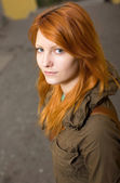 Beautiful young redhead. — Stock Photo