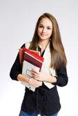 Linda estudante. — Foto Stock