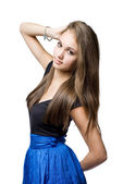 Beautiful slender young brunette. — Stock Photo