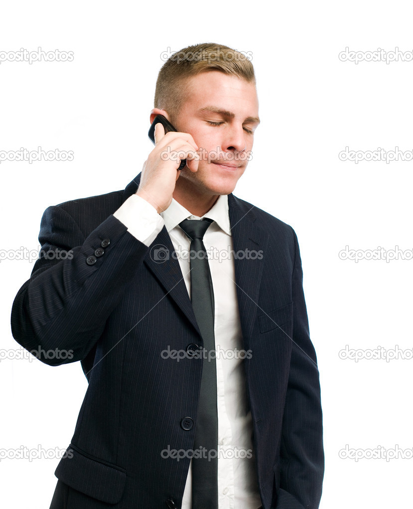 Portrait of a  young businessman in despair over bad news. — Stock Photo #8655938