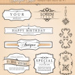 Stok Vektör: Baroque antique styled vector set.