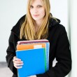 Attractive blond student woman. — Stock Photo #9365043