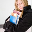 Attractive blond student woman. — Stock Photo #9498444
