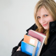 Beautiful young blond student girl. — Stock Photo #9498445