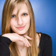 Graceful friendly young blond woman. — Stock Photo