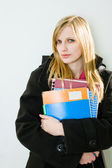 Gorgeous young blond student girl. — Stock Photo