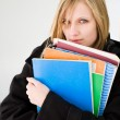 Cute blond student. — Stock Photo