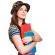 Very colorful young student. — Stock Photo #9755960