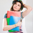 Cute young student girl. — Stock Photo