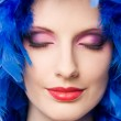 Very colorful makeup display. — Stock Photo