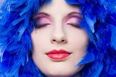 Extreme colorful makeup shot. — Stock Photo