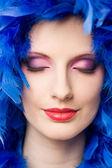 Very colorful makeup display. — Stock Photo