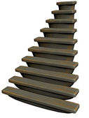 Treppe mit gold details — Stockfoto