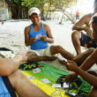 Stock Photo: Boracay Locals Playing Card Game