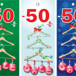 Christmas sale labels — Imagen vectorial