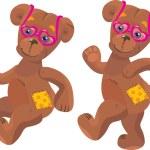 A happy cartoon teddy bear — Stock Vector #8411616
