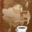 Stock Vector: Cup of coffee with abstract design elements.
