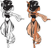 Belly dance — Vector de stock