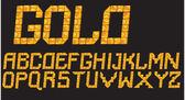 Gold mosaic font — Stock Vector