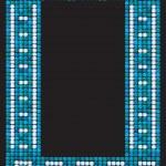 Mosaic frame (portrait) — Stock Vector