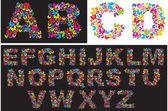 Mariposa letras — Vector de stock