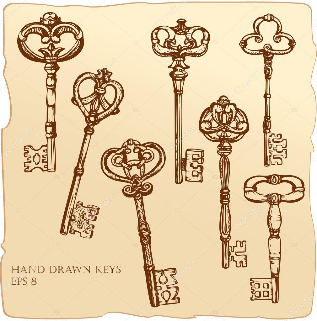 Vector Key Illustration: Stock Vector © Lian2011 #8451095