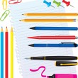 Set of office stationery — Stock Vector #8492308