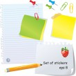 Set of office stationery — Stock Vector