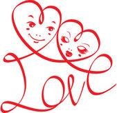 день святого валентина или свадебное приглашение — Cтоковый вектор