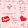 Stock Vector: Set of Valentine`s Day symbols
