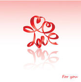 Valentine`s Day card with hearts — Stock Vector