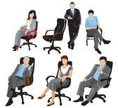 σιλουέτες των επιχειρήσεων — Διανυσματικό Αρχείο