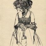 Fancy woman 19 century. part 6 — Stock Photo