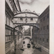 Stock Photo: Vintage postcard with Gondolon Canal Grande in Venice (Italy)